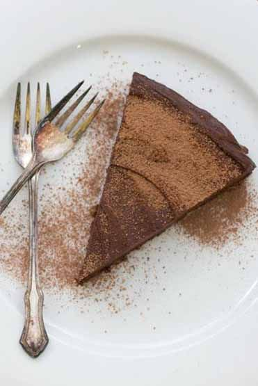 Double Chocolate Avocado Coffee Mousse Torte Vegan, Gluten free, Refined Sugar Free Loving Earth