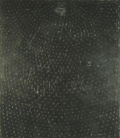 """ROSS BLECKNER,  ARCHITECTURE OF THE SKY V, 1989, OIL ON CANVAS, 106"""" X 92"""""""
