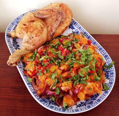 Grillcsirke édesburgonyasalátával (paleo ebéd recept) ~ Éhezésmentes Karcsúság Szafival