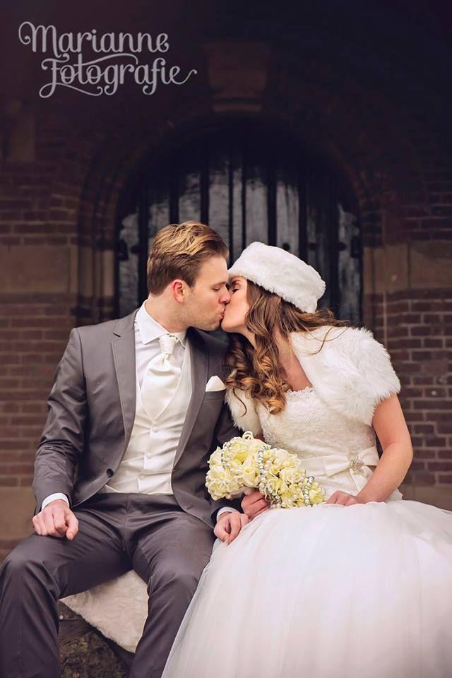 In december trouwen en prachtige buitenfoto's maken kan dus echt ook ;) <3 mooi stel!