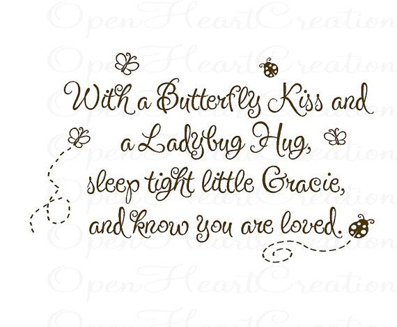 With a Butterfly Kiss and a Ladybug Hug You by openheartcreations, $45.00