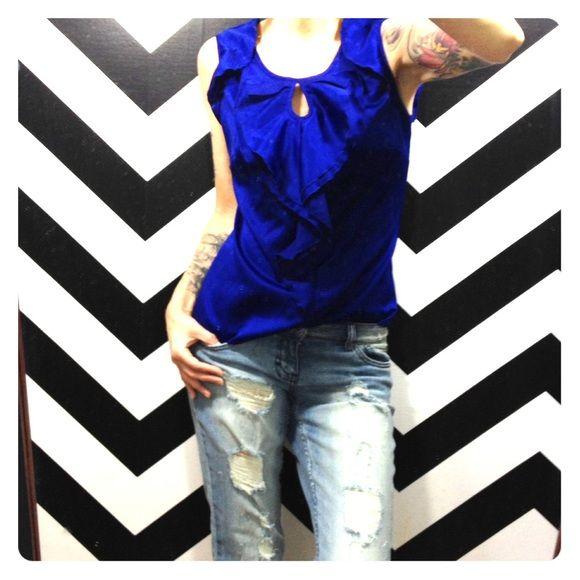 Royal Blue Blouse Outfit 9