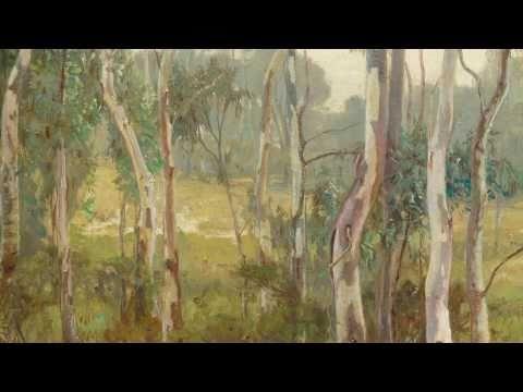 Hans Heysen 'The saplings' 1904--06