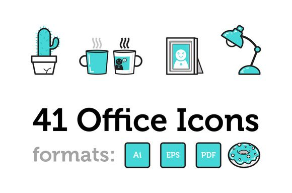 Check out 41 Office Icons by michela.tannoia on Creative Market