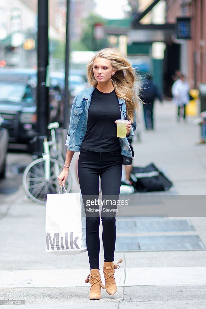 model romee strijd is seen in the meat packing district on may 23 rad pelo pinterest. Black Bedroom Furniture Sets. Home Design Ideas