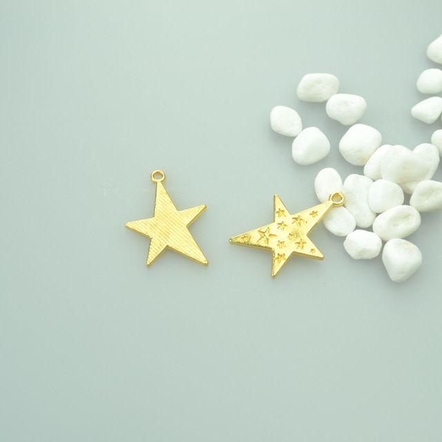 10 шт. Мода золотой цвет звезды Подвески металлические Подвески для Изготовления Ювелирных Изделий DIY Ручной Craft 29*21 мм 42108B