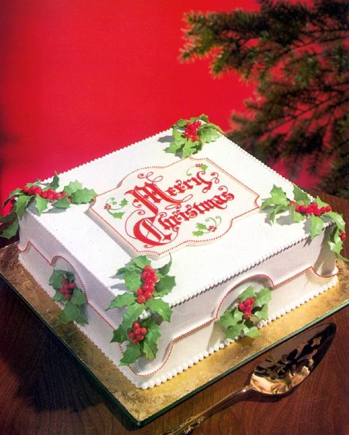 Christmas holly, greeting http://www.maliprinc.com/torte/klasicne/html/003a.html
