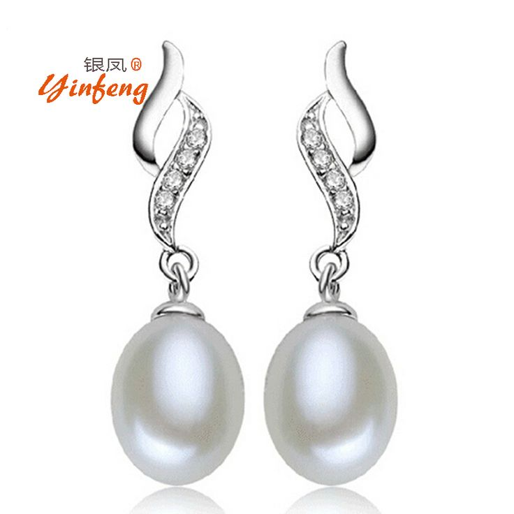[Yinfeng]Three color ANGEL TEARS Natural Pearl Stud Earrings Cultured Freshwater Pearls Earring white/pink/purple pearl