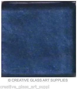 20 - 3/4 inch Indigo Blue Metallic Glass Mosaic Tiles