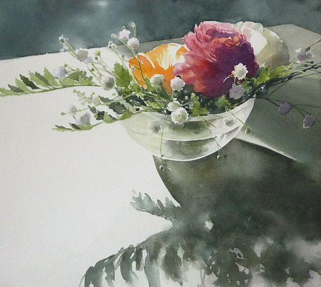 Artimañas: Selección de acuarelas de flores - Flowers - watercolors    Abe…