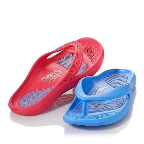 Tony Little Cheeks® Exercise Incline Sandals Combine comfort and style with Tony Little Cheeks® Exercise Sandals. Designed to firm your legs and buttocks with e very step, the ultra lightweight sandals feature outsole and footbed technology to keep your feet in perfect postural alignment.