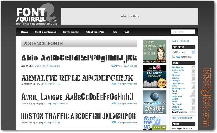 Fontsquirrel - Más de 520 fuentes gratuitas
