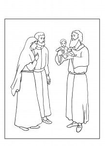 Сретение. Библейские раскраски скачать с http://alla-kon.livejournal.com/