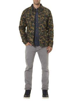 Anerkjendt Doorgestikte camouflage jas