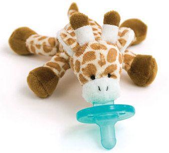 WubbaNub  Giraffe- We love WubbaNubs! Soft and cuddly, perfect for babyshower gifts :)