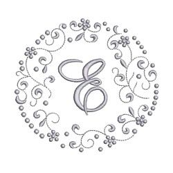 Needle Passion Embroidery,monogram scrolls machine embroidery design pack