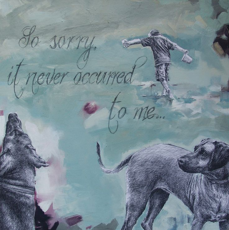 So sorry, it never occurred to me - Oil and Pencil