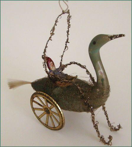 Sehr alter Christbaumschmuck, Schwan aus Glas, mit Rädern   eBay                                                                                                                                                                                 Mehr