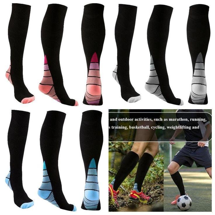 Women's Compression Trouser Socks Plantar Fasciitis w/ Cushion Heel Arch Support #REEHUT #Promoterecoverybetteroxygencirculation