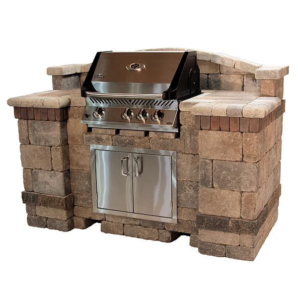 Outdoor Kitchen Bbq Kits Brick Backsplash In Pin By Ashley Lambert On Fun Backyard Grill Design