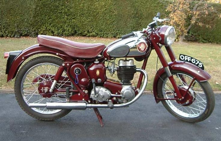 photos of vintage motorcycles | 1958 BSA C12 Classic Motorcycle Pictures