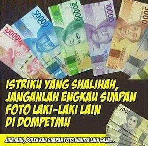 meme uang baru Indonesia yang diluncurkan kemarin