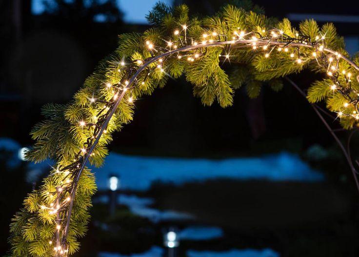 Weihnachtsbeleuchtung Lichterkette  - LED Büschel-Lichterkette, warmweiß, 384 LEDs