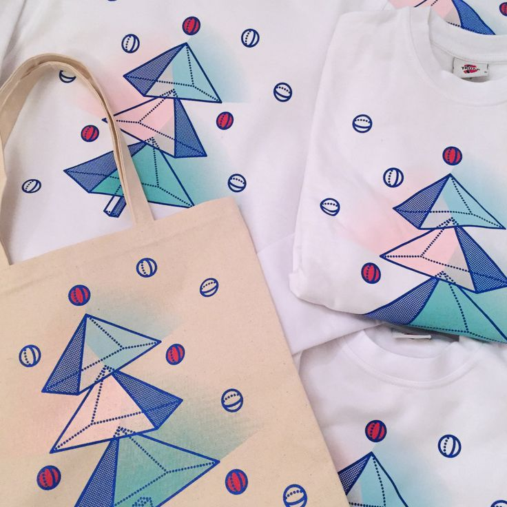 Christmas Prints on Sweatshirts and totebags // print design // silk-screen print — Intersection design