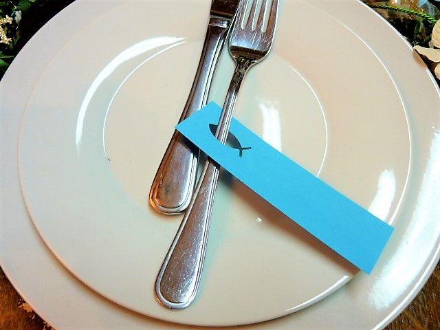 Dekoration – 30 St. Platzkarte Tischkarte Fisch …