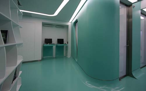 I wouldn't mind getting my teeth cleaned in aquaInterior Design, Interiors Design