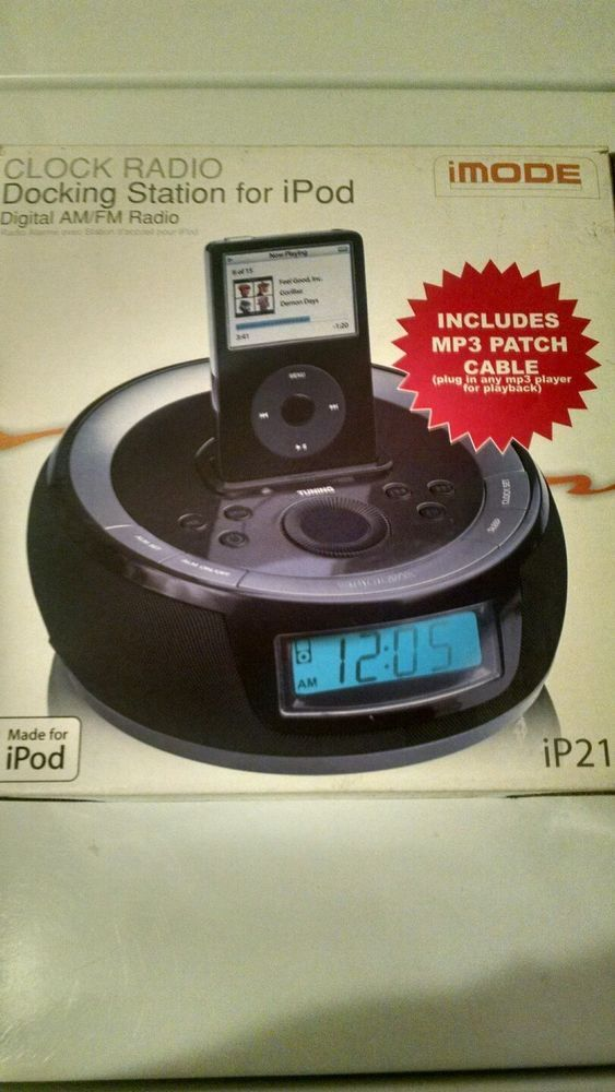 iPod / iPhone Clock Radio W/ Remote (Never Used) New! Puck Style Awesome Sounds! #iMode