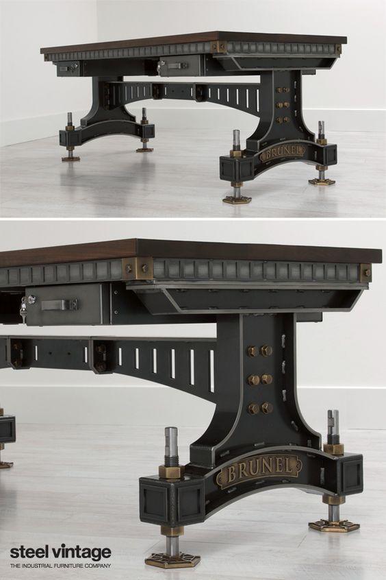 The Brunel Desk Vintage Industrial Furniture Industrial Furniture Vintage Industrial Decor
