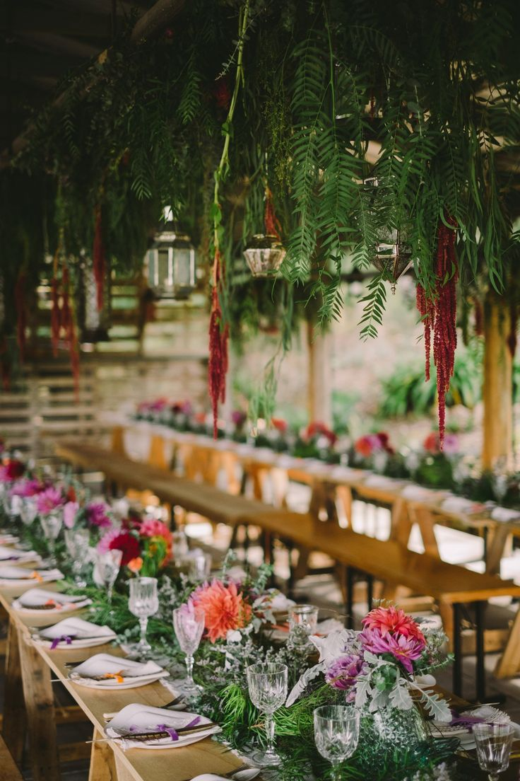 Real weddings: Alex and Ruby's AMAZING Bohemian wedding... The reception was dripping in vibrant blooms, Moroccan-style lanterns and a canopy of twinkling fairy lights, setting the scene for an unforgettable celebration. See more here: http://www.easyweddings.com.au/real-weddings/cause-i-like-you-ruby-and-alexs-bohemian-wedding/