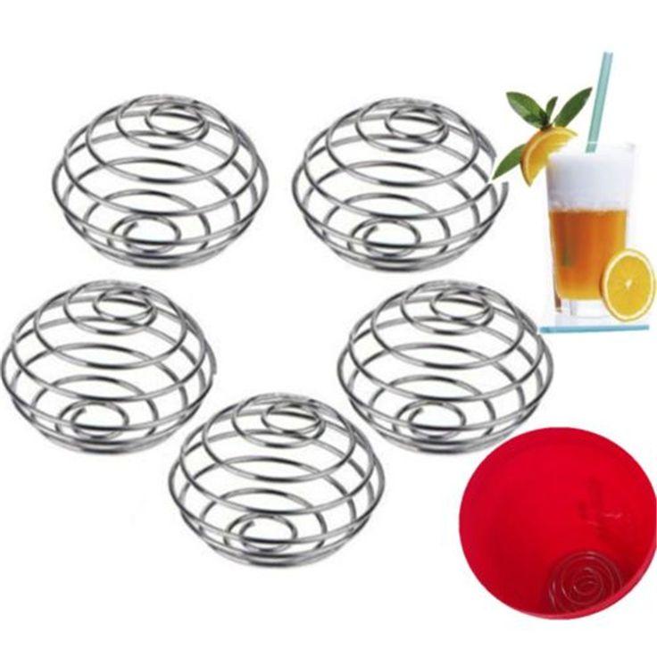 1 STKS Rvs Sap Shaker Bal Melk Drink Mixer Shaker Blender Mengen Bar Thuis Koken Mixer Cook Tool