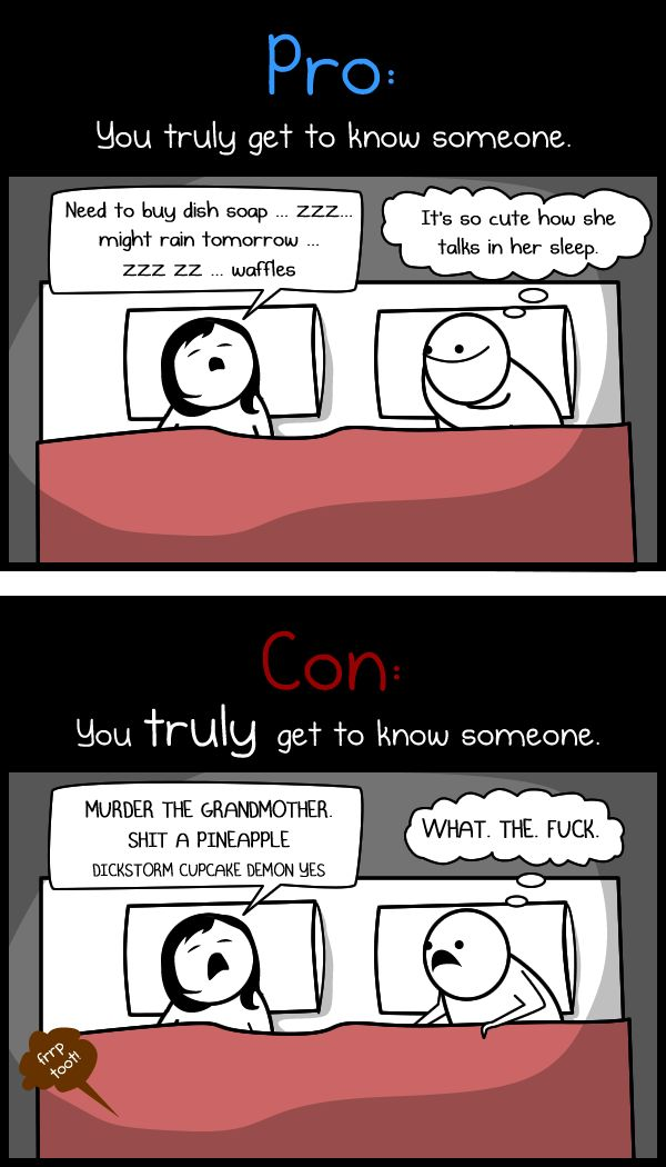 Pros and cons to living with your significant other