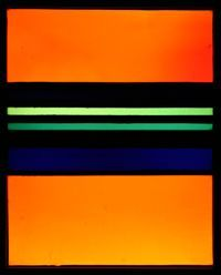 This work is by Dutch stained glass artist Johan Thorn Prikker. It is titled Orange, 1931. This piece instantly reminded me of a Rothko painting (one of my favorites). In fact you can purchase it as a painting reproduction. It is funny however, that it precedes Rothko. Maybe inspiration.