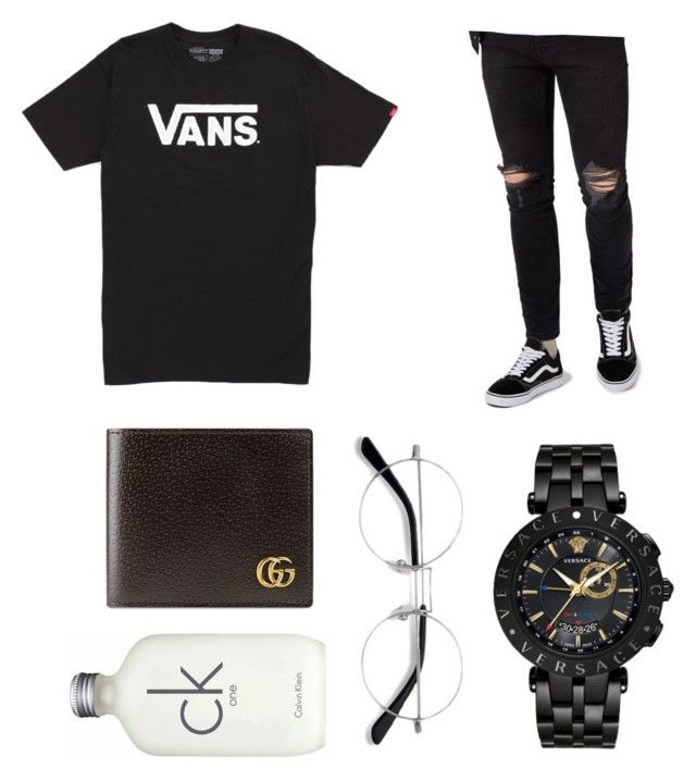 """coolikeven"" by onesclanivis on Polyvore featuring Vans, Topman, Versace, Gucci, EyeBuyDirect.com, Calvin Klein, men's fashion and menswear"