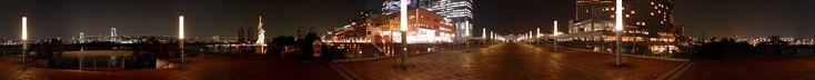 Odaiba Panoramas 2 (auto scroll) お台場パノラマ 2 パノラマ写真自動スクロール