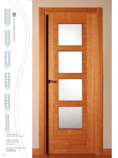 Puertas para interiores de madera y vidrio buscar con - Puertas de madera con cristal ...