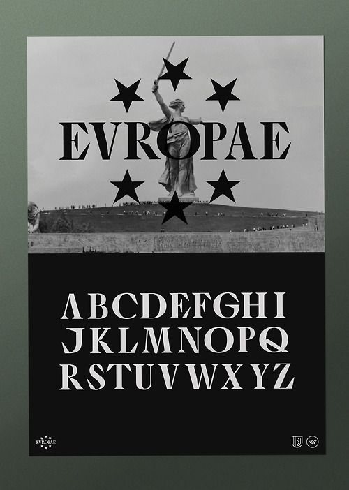 EVROPA poster 1 / 3.Typography & graphic by Studio Jimbo. 2014.
