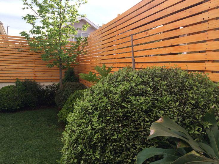 Timber cloruro cierre con madera terrazas pinterest - Cierres de jardin ...
