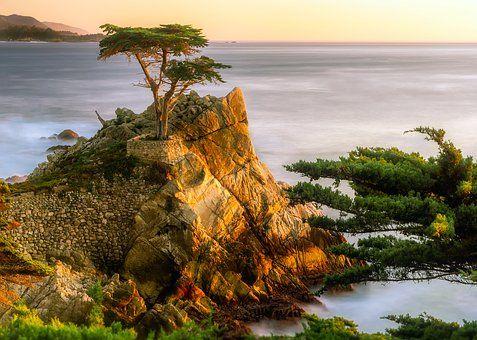 Pebble Beach, Californië, Zee