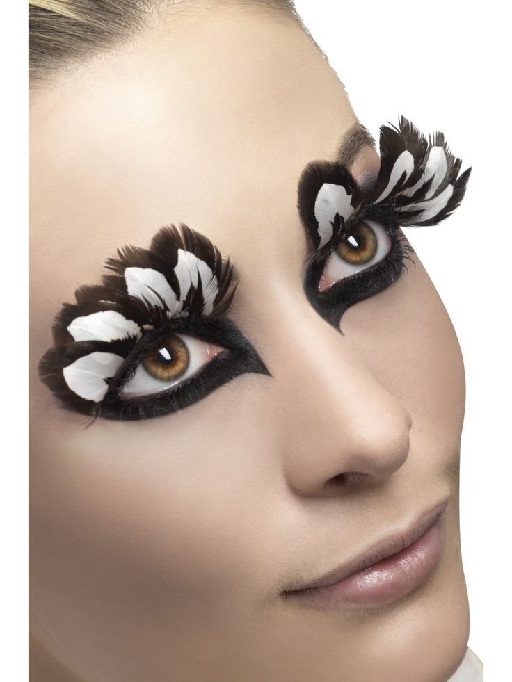 Home >Accessories >Eyelashes >Brown and White Feather Eyelashes