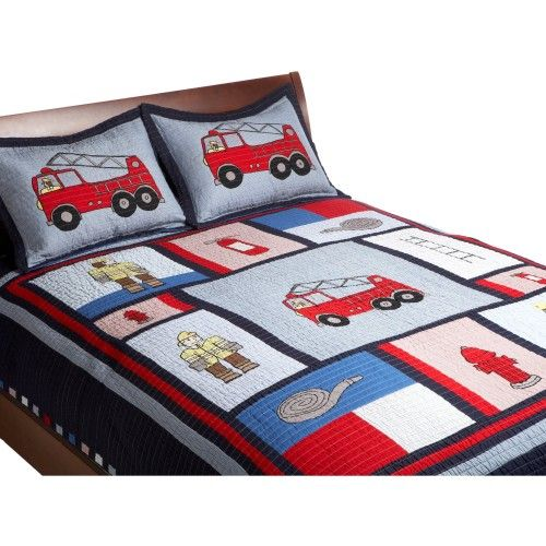 Fire Truck Bedding Fire Truck Quilts Pinterest Truck Bed Fire Trucks And Fireman Quilt