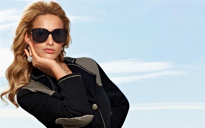 Download wallpapers Michaela Kocianova, Slovak supermodel, portrait, 4k, woman in sunglasses