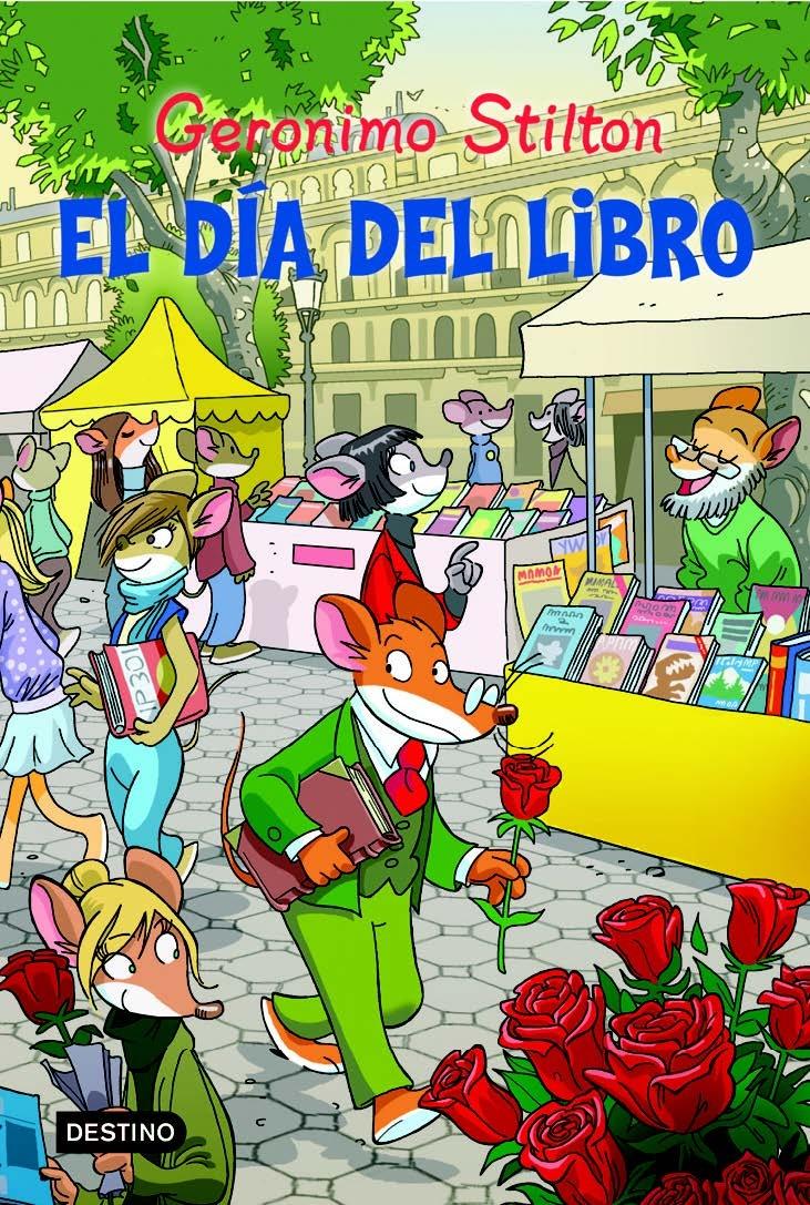 Para @s nenos de 6 a 8 anos. No aire había un arrecendo a primavera e eu... eu suspiraba pensando nunha misteriosa roedora da que me namorara sen esperanzas! Tiña que atopar a maneira de distraerme un pouco... Afortunadamente, a miña irmá Tea arrastroume á cidade de Barcelona para coñecer a superratónica festa dos libros e a rosa