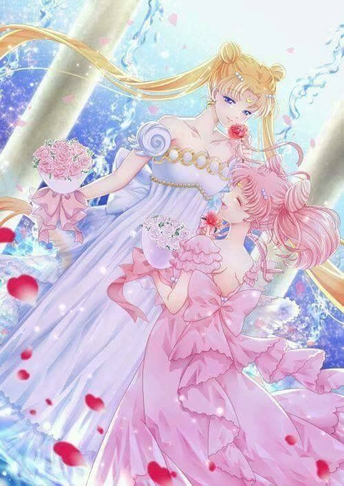 Chibi moon and sailor moon