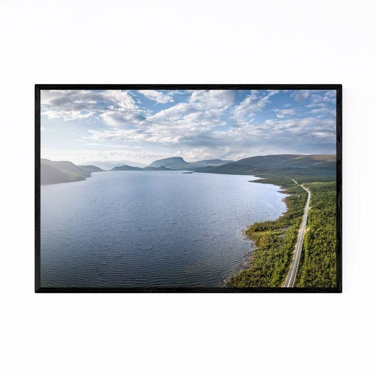 Noir Gallery Lapland Finland Lake Landscape Framed Art Print (20 x 24 – White)