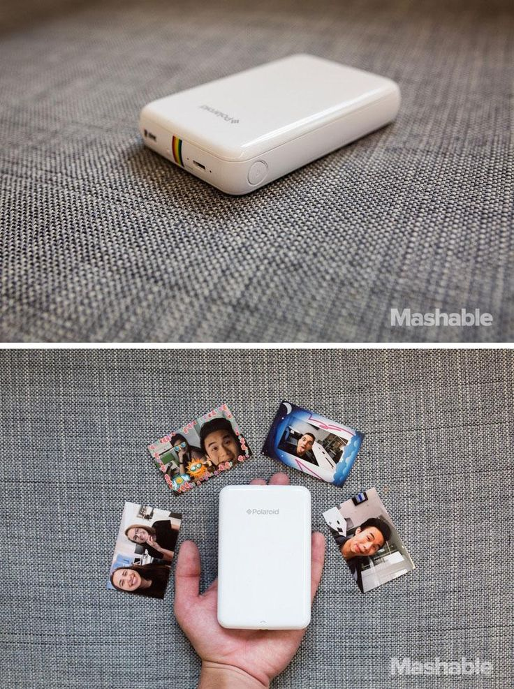 The Polaroid Zip Instant Photoprinter is a pocket digital printer that prints up sticker pics from your smartphone or tablet #photos #printer #gadget