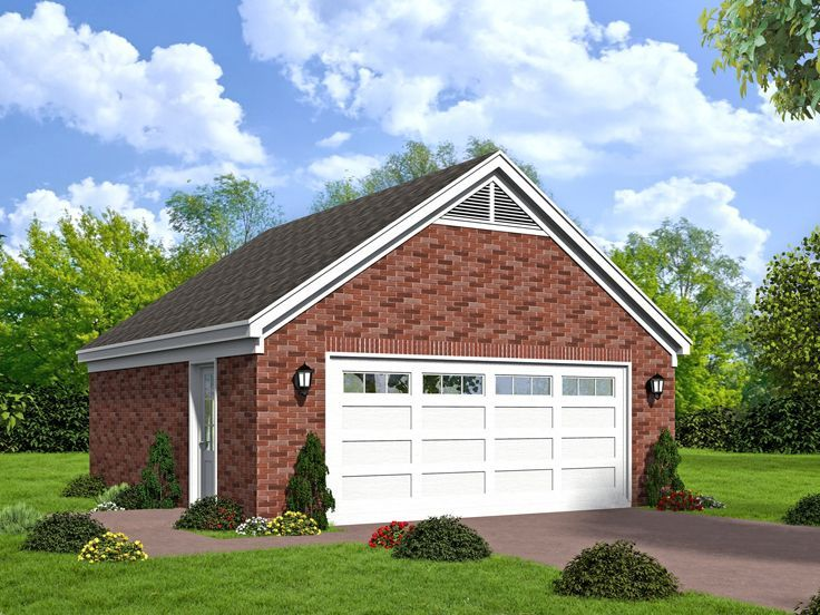 77 best 2 car garage plans images on pinterest car for Brick garage plans